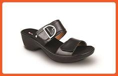 Revere London - Womens Wedge Sandal Black - 9 Wide - Pumps for women (*Amazon Partner-Link)