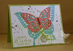 Stampin' Up! Butterfly Basics, Gorgeous Grunge and Butterfly Thinlits. Debbie Henderson, Debbie's Designs.