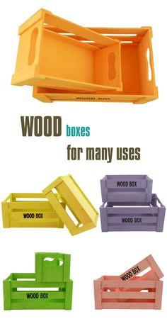 Ξύλινα μικρά καφάσια για πολλές χρήσεις   lovelyhome.gr Wood Boxes, Home Accessories, Cube, Tray, Garden, Wooden Crates, Garten, Wood Crates, Home Decor Accessories