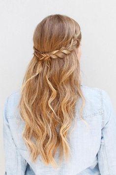 Peinado trenza detrás