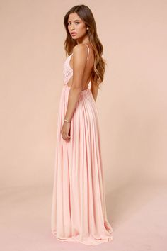 650090aab12 Blooming Prairie Crocheted Pink Maxi Dress. Cute DressesPink ...
