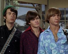 """Mike Nesmith, Micky Dolenz & Peter Tork in """"Too Many Girls. Michael Nesmith, Peter Tork, Homecoming Queen, Hippie Vibes, Davy Jones, The Monkees, Classic Rock, Rolling Stones, Green Eyes"""