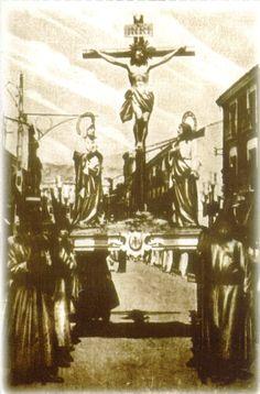 Semana Santa Cuenca 1922 Santísimo Cristo de la Agonía Fotografía editada por Heliotipia Artística Española de Madrid y distribuido por el periódico La Tribuna de Cuenca #SemanaSanta #Cuenca #HermandadCristoAgonia