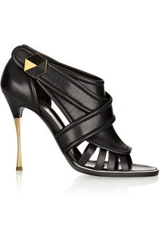 Nicholas Kirkwood Cutout leather sandals | THE OUTNET