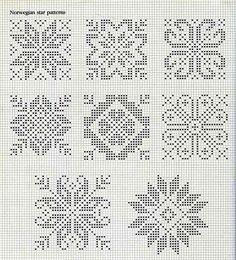норвегия, норвежские узоры, норвежский узор, снежинка, звезда, северная звезда, схемы, узоры