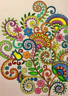 Mandala Art, Mandala Drawing, Doodle Art Designs, Abstract Designs, Arte Alien, Secret Garden Coloring Book, Paisley Art, Flower Doodles, Color Pencil Art