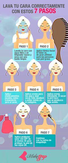 Este fin de semana es para consentirte, así que pon a prueba estos 7 pasos para limpiar tu cara, verte y sentirte bien. #Hermosa #Maquillaje #beautiful #makeup