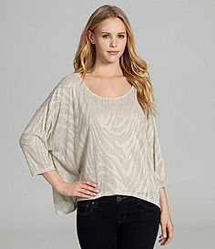 BCBGeneration Pleat Back HiLow Metallic Tee #Dillards