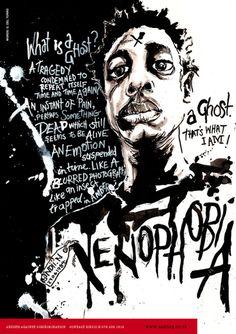 Xenophobia Poster Series 1 by sindiso nyoni, via Behance