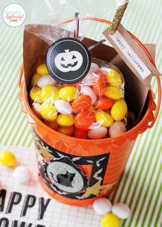 Spotted at Positively Splendid: Halloween treat buckets using American Crafts Halloween products available @Target  #Halloween #Crafts