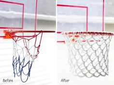 Crochet Basketball Hoop, how smart! Check out the free pattern from the Repeat Crafter Me Blog