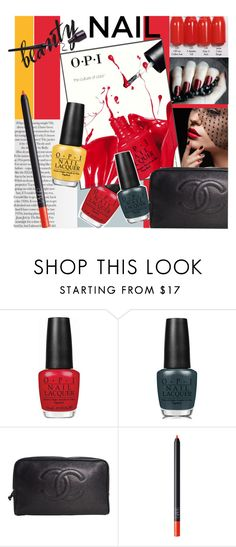 """""""Senza titolo #1951"""" by aanyaa ❤ liked on Polyvore featuring beauty, OPI, Chanel, NARS Cosmetics and nailart"""
