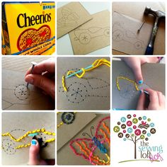 Simple Stitch Cards for Kids