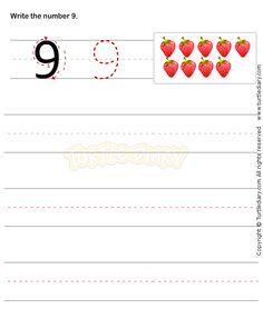 Number Writing Worksheet 9 - math Worksheets - preschool Worksheets