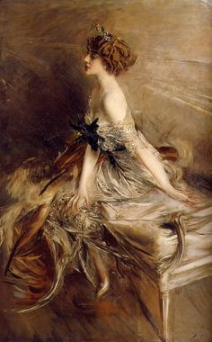 "Portrait of princess Marthe-Lucile Bibesco. 1911 ~ Giovanni Boldini ~ Italian genre and portrait painter known as the ""Master of Swish"" because of his flowing style of painting ~ Giovanni Boldini, Illustration Art, Illustrations, Art Plastique, Beautiful Paintings, Oeuvre D'art, Love Art, Art History, History Facts"