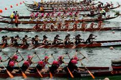 racers in the dragon boat festival...