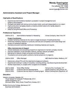 images about resume on pinterest   administrative assistant    combination resume sample administrative assistant