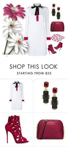 """""""Winter Daisy"""" by gemique ❤ liked on Polyvore featuring Gucci, Chico's, Giuseppe Zanotti, MICHAEL Michael Kors, women's clothing, women, female, woman, misses and juniors"""