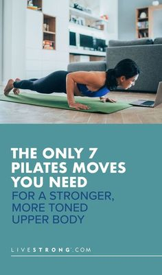 These seven upper-body Pilates exercises � which will strengthen your shoulders, arms and core � are guaranteed to upgrade your upper-body workouts. Pilates Moves, Pilates Workout, Hiit, Body Training, Strength Training Workouts, Body Workouts, Weight Loss Goals, Weight Lifting, Isometric Exercises
