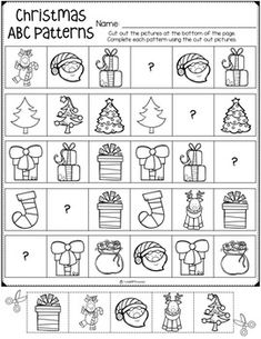 Pre K Worksheets, Christmas Worksheets, Christmas Math, Kindergarten Math Worksheets, Preschool Christmas, Christmas Activities For Toddlers, Educational Activities For Kids, Preschool Writing, Winter