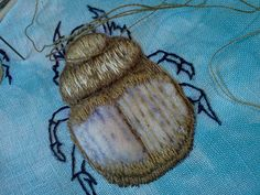 scarab beetle - stumpwork
