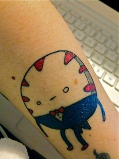 I love Adventure Time, and I felt like I needed Peppermint Butler on my arm! Done by Marty at Kustom Kulture, Geelong Australia.