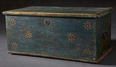 Decorated Blanket Chest, 19th century, New England