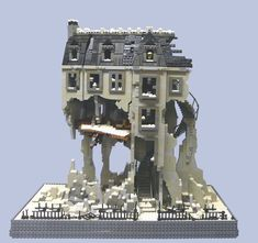 The Inventor's House - Front  Based on the house from the movie 9.  More pictures in the Brickshelf Gallery, once public.