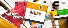 Página web Tarjeta de visita, el diseño esta indicado para PYMES que desean tener su tarjeta de visita en Internet.