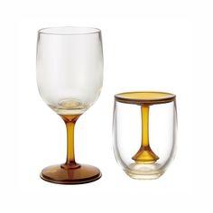 Sit-and-Stand Portable Wine Glass - set of 2   dotandbo.com