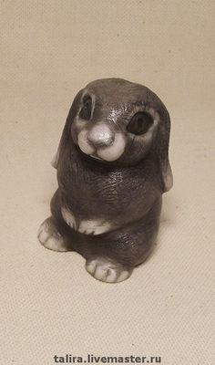 """Купить Миниатюра """" Кроленька"""" - кролик, миниатюра, камень, Ангидрит, мягкий камень, ангидрит"""