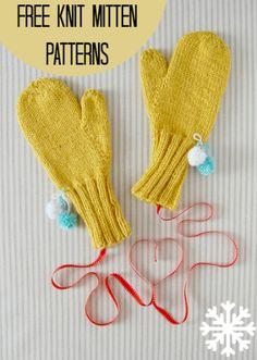 16 Free Knit Mitten Patterns