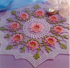FREE pattern for crochet doily 'Always Spring' (pattern over 2 pages)