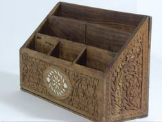 US $18.95 Pre-owned in Home & Garden, Home Décor, Key & Letter Holders Desk Organization, Organizing Ideas, Key And Letter Holder, Bill Holder, Wood Letters, Wood Working, Woods, Organize, Decorative Boxes