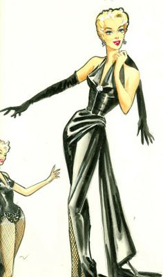 "William Travilla costume designs for Marilyn in ""A Loss of Roses""; a film she was slated to make before her death."