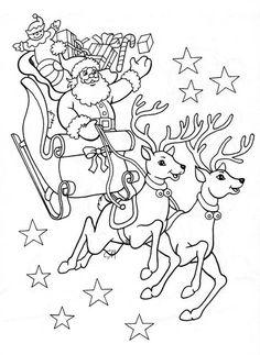 Drawing Christmas Santa Coloring Pages 15 Ideas Santa Coloring Pages, Christmas Coloring Sheets, Printable Christmas Coloring Pages, Adult Coloring Pages, Coloring Pages For Kids, Coloring Books, Christmas Colors, Christmas Crafts, Kids Christmas