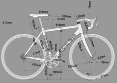 Frame geometry for a road bike. For any cyclist interested in the #bike more than the #cycling.: