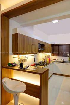 Gallery: Interior Designs and Kitchen at Cochin Kerala to Customize Kitchen Cupboard Designs, Kitchen Design Open, Luxury Kitchen Design, Interior Design Kitchen, Ceiling Design Living Room, Home Room Design, Kitchen Modular, Modern Kitchen Interiors, 3d Home