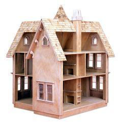 Woodworking For Kids Haunted Dollhouse, Diy Dollhouse, Dollhouse Furniture, Girls Dollhouse, Dollhouse Tutorials, Wooden Dollhouse Kits, Dollhouse Design, Antique Dollhouse, Modern Dollhouse