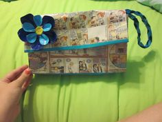 Duct Tape and Comic Strip Clutch/purse   by 2SistersandDuctTape on Etsy   super awesome stuff check out their store