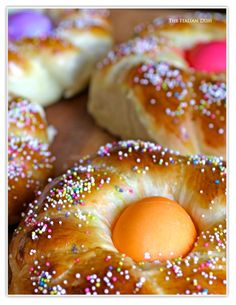 The Italian Dish - Posts - Italian EasterBread  I have made this recipe & LOVE LOVE LOVE this website!  The bread I made the more traditional shape instead of like shown here in the picture but I have to say it was DELICIOUS!