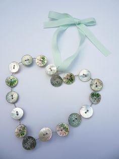 Handmade wire button heart