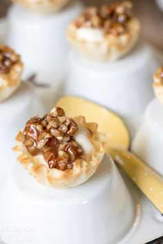 #ad #BuzznBloom Creamy Baklava Bites, phyllo cups, flavored whipped cream and…