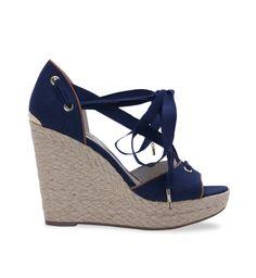 07d6aad80f66 Women s MICHAEL KORS Lilah Lace Up Espadrilles - Navy - MICHAEL Michael Kors  suede espadrille sandal