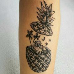 Creative Pineapple Tattoo