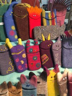 Вышивка под заказ Wet Felting Projects, Felting Tutorials, Felt Fabric, Fabric Dolls, Felt Crafts, Crafts To Make, Felt Phone Cases, Felt Coasters, Felt Purse
