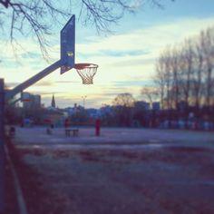 A hoop in the winter. #norway #norwegen #oslo #hoop #bball #basketball #court #basketballcourt #sports #trees #travel #travelgram #reisen #basketballplatz #streetball #playground