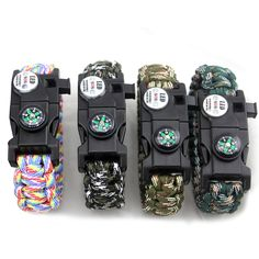 Multifunctional Self Defense Camping Rescue Bracelets Wolf Warriors Cord Bracelet Emergency Rope Survival Buckle Braided Chain  #Affiliate