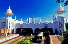 Photo about Kuala Lumpur Railway Station, Kuala Lumpur, Malaysia. Image of station, lumpur, building - 25344039 Best Places To Travel, Places To Visit, Istanbul Guide, Moorish Revival, Commuter Train, Union Station, Metro Station, British Colonial, France