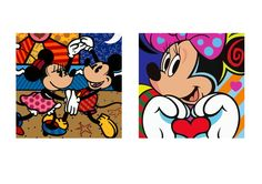 Molde Mickey e Minnie para luminária